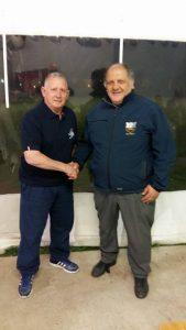 Mike Gosling e Nicola De Francesco dell'Oltremella Rugby